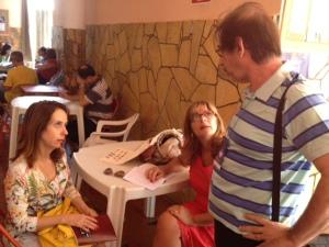 Ligia, Monica e Ricardo
