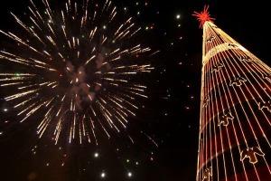 christmas-tree-xmas-star-firework-star-night-São-Paulo-Brasil